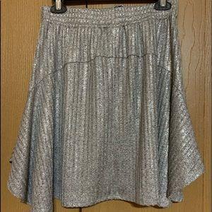 Anthropologie Skirts - Anthropolgie Dolan silver skirt